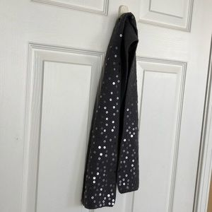 Chill Proof Gray One-sided Sequin Scarf